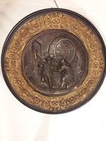 Johann Maresch ( 1821–1914 ) óriási fali tányér fali dísz jelzett