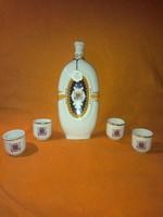 Várda Drink pálinkás hollóházi porcelánok