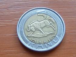 DÉL-AFRIKA 5 RAND 2009 GNU BIMETÁL #