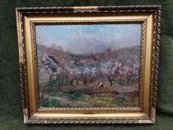 Feri de Szikszay (Szikszay Ferenc PEST, 1870 - 1908, Orsay) Printemps á Orsay