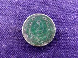 Zöld patinás Osztrák-Magyar 2 fillér 1898 KB BU / id 11623/