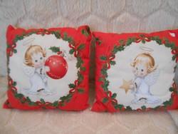 2 db kis töltött karácsonyi párna 28x28 cm-es