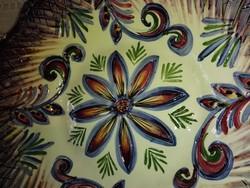 Gyönyörű francia  vintage, kézműves mázas tányér...Coupelle-ből.