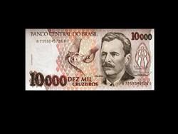 UNC - 10 000 CRUZEIROS - BRAZILIA - 1991 (Old Money!)