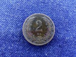 Szép patinás Osztrák-Magyar 2 fillér 1901 KB BU / id 11625/