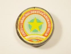 Retro Vietnám balzsam doboz tégely - Cao Sao Vang Golden Star Aromatic Balm Hanoi Vietnam - 1970-es