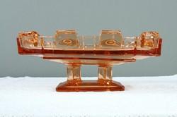 Régi Art Deco talpas kínáló asztalközép