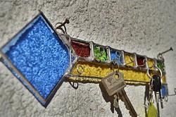 X. Tiffany 8 db-os fali kulcstartó művésztől.