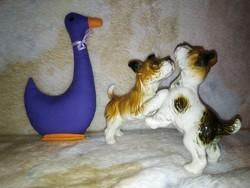 19144A2 ENS német porcelán kutyapár