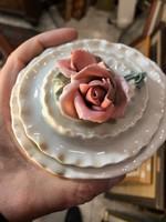 Porcelán cukros doboz, hibátlan, jelzett, ajándéknak..