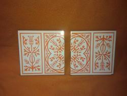Zalaegerszegi kerámia csempe / edényalátét párban