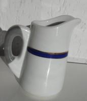 Haas & Czjzek Czechoslovakia - antik vastagfalú tejszínes kiöntő kék aranyszélű dekorcsíkkal