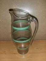 Antik üveg vizes boros kancsó 2,2 liter (6/d)