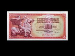 UNC - 100 DÍNÁR - JUGOSZLÁVIA - 1986