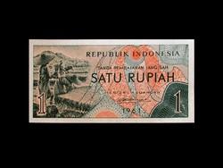 UNC - 1 RÚPIA - INDONÉZIA - 1961 !!! (Old money!)