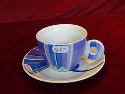 Olasz minőségi porcelán kávéscsésze + alátét. AMICIZIA - légy bizalommal.