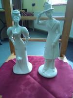 Art deco angol kerámia szoborpár.