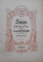 Beethoven Sonaten, zongora-hegedű kotta