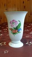 Herendi porcelán váza, gyönyörű, virágmintás.