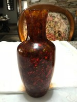 Régi különleges öntött Orosz Borostyán váza