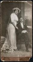 Erdély, Temesvári házaspár kartonfotója / SZENETRA JÓZSEF fotós munkája