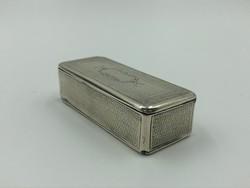 Antik ezüst szelence, dobozka minervás jelzéssel