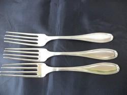 Sterling patent feliratú ezüst/ezüstözött villa 3db