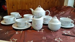 Alföldi porcelán teáskészlet eladó!Szép 6 személyes Alföldi barackvirág  mintás teáskészlet
