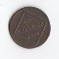 Ferdinánd 1 Krajcár 1805 Ausztria/Salzburg Cu.