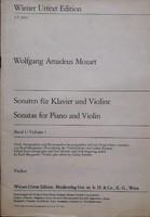 Mozart, Sonaten zongora-hegedű I.,  hegedű kotta