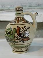 Korondi kézzel festett kerámia ívókorsó