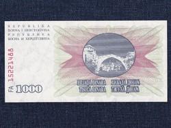 Bosznia-Hercegovina 1000 Dínár bankjegy 1992 UNC / id 12948/