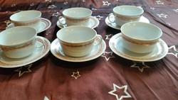 Alföldi porcelán teáskészlet 6 db pohár, 6 db tányér eladó!