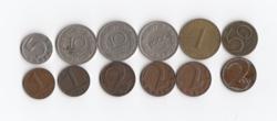 1 - 1000 Groschen 1 schilling 12 db 1924 - 1974.