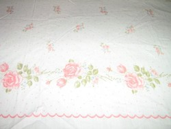 Csodaszép rózsás vintage shabby chic flanel lepedő