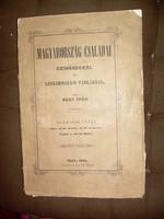 Nagy Iván: Magyarország családai czimerekkel és leszármazási táblákkal 3. kötet 1858!
