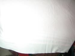 Gyönyörű antik fehér halványzöld aljú lepedő
