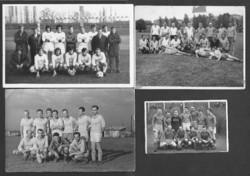 Négy magyar futballcsapat: Bp Honvéd / MNB / Bp Épitők / Ganz Vill vagy UFC