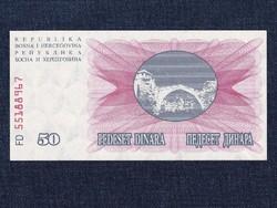 Bosznia-Hercegovina 50 Dínár bankjegy 1992 UNC / id 12947/