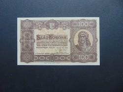 100 korona 1923 Magyar Pénzjegynyomda RT  Szép ropogós bankjegy !