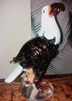 Dekoratív sas figura - Muranói stílusú műalkotás