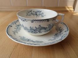 Antik angol Cauldon fajansz csésze teáscsésze alátéttel
