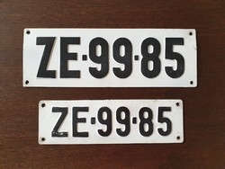 Régi rendszám rendszámtábla