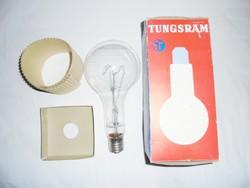 Retro TUNGSRAM 1000 W izzó égő eredeti dobozával - ipari loft lámpába - új, működik, van fényereje