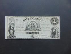 1 forint 1852 G Kossuth bankó Szép bankjegy !