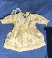 Antik taft babaruha, kb 46 cm-es babára