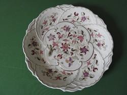 Dúsan aranyozott hatalmas zsolnay falitányér - fali tányér - dísztál - tál