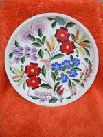 Kalocsai porcelán faitányér