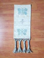Retro iparművész falikép, falikárpit - bézs türköz színű pillangó faliszőnyeg - textil szőnyeg