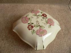Zsolnay porcelán ékszertartó, bonbonier